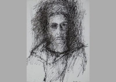 Z 241 | Portrait BW | 1983 | Feder, Tusche | 310x225