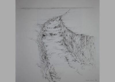 Z 621 | Graben | 1998 | Feder, Tusche auf Ingres | 674x588