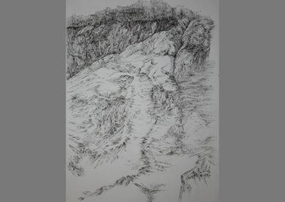 Z 624 | Landschaftsformen II | Feder, Tusche | 1998 | 805x590