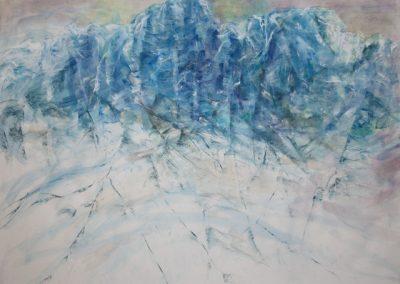 Z 704 | Eislicht | 2009 | Aquarell, Kreide auf Bütten | 594x800