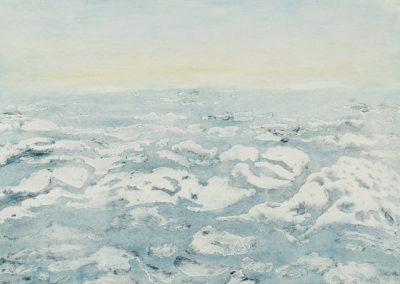 R 489 | Bewegtes-Eis | Absprengtechnik(Zucker) | 2010 | 295x396
