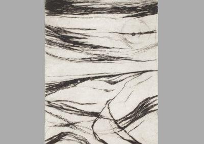 R 134 | Karge Landschaft | Kaltnadel | 1967 | 220x165