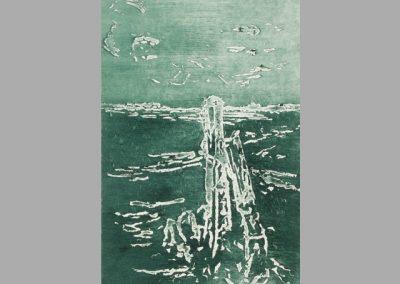 R 485 | Pfähle am Meer I | Absprengtechnik(zucker) | 2010 | 295x197